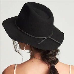 NWT Brixton Wesley Black Wool Fedora Hat Revolve